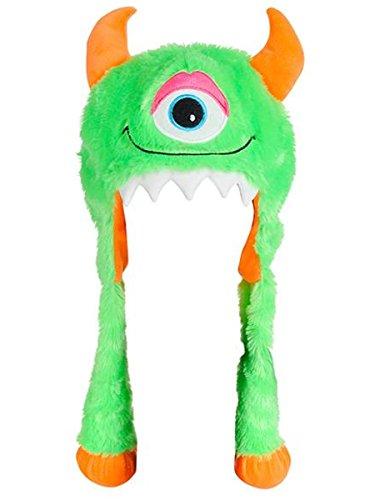 Halloween Character Cute Green Monster Plush Hat Costume -