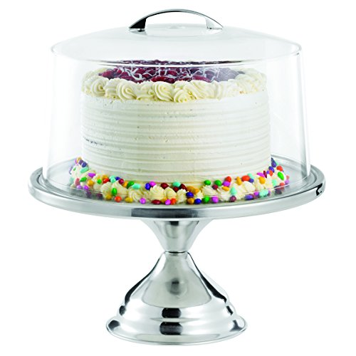 TableCraft Products 821422 Cake Stand & Cover Set, 12.75