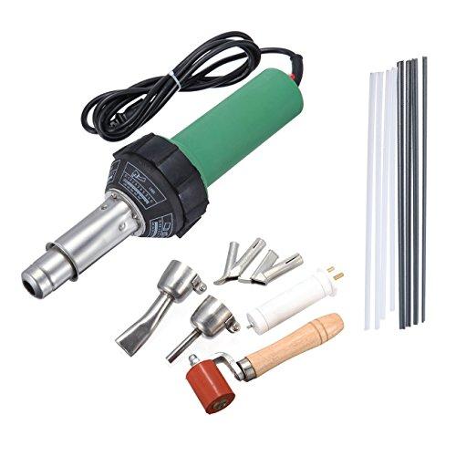 1500w Hot Air Torch Plastic Welding Gun Welder Pistol + 2 High Speed Nozzles +He Roller + PVC Pe Rods by Idd