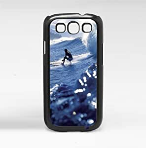 Surfing Blue Waves Hard Snap on Phone Case (Galaxy s3 III)
