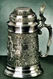 Old Heidelberg German Pewter Beer Stein