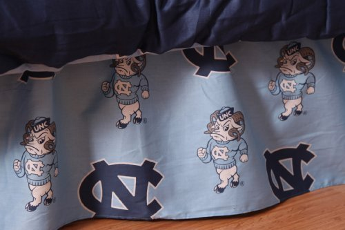 College Covers International North Carolina Tar Heels Printed Dust Fashions Ruffle - Twin