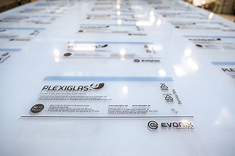 5mm PLEXIGLAS/® Platte 50x50 cm wei/ß opal lichtdurchl/ässig 30/%