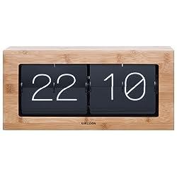 Karlsson Boxed Flip Clock (Bamboo)