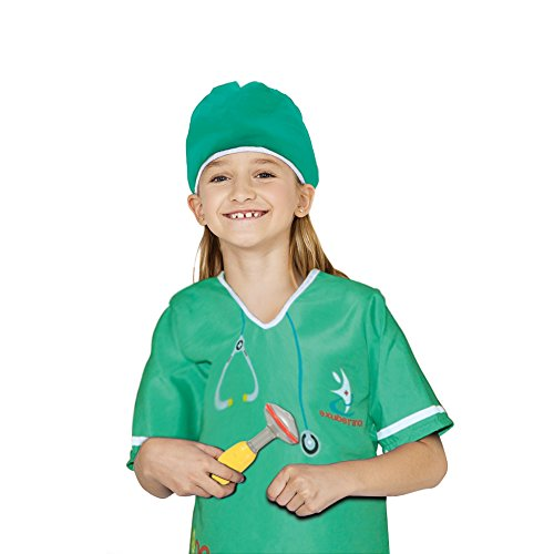 FunsLane Doctor Role Play Set with Surgeon Dress up Costume and other Accessories Stethoscope, Reflex Hammer, Syringe for Kids Pretend Play 10 Pcs Toy Set - Career Costumes For Kids