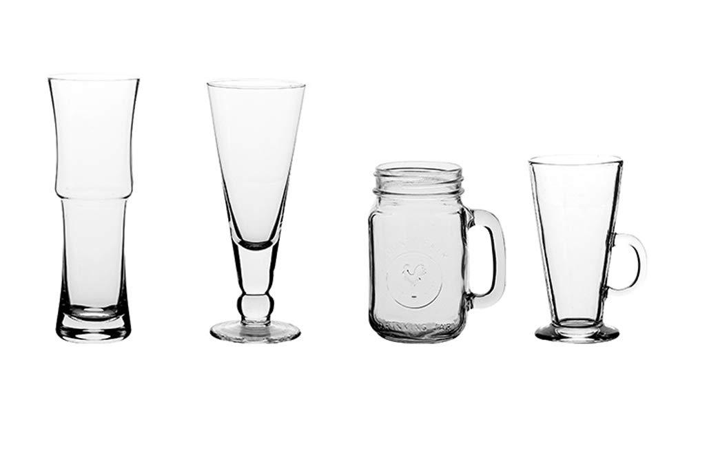 Transparent Glass Cup Drink Glass Juice Pot Cold Drink Cup Ice Orange Pot Portable Outdoor Cola Bottle Drink Cocktail Beer Mug