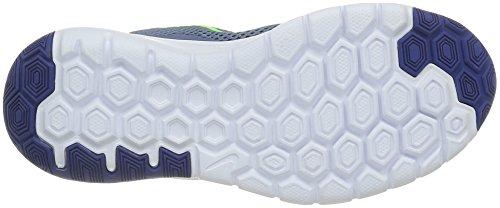 Nike Flex Experience 4 (GS) Scarpe da Corsa, bambini e Ragazzi, Multicolore (Blk/Mtlc Drk Gry-Anthrct-White), 36 Grigio (Gris (Ocean Fog/Electric Green White Deep Royal))