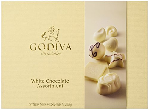 GODIVA Chocolatier White Chocolate Assortment Gift Box, Classic Ribbon, 24 pc. (Godiva Chocolate Wedding Favors)