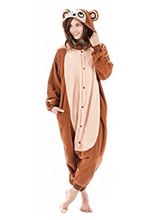 amazoncom emolly fashion adult monkey animal onesie