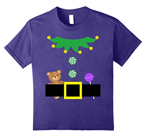 Diy Purple Fairy Costume (Kids Christmas Cute Elf Funny Costume Gift Shirt Preschooler 12 Purple)