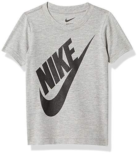 NIKE Children's Apparel Boys' Little Sportswear Graphic T-Shirt, Dark Grey Heather, 7