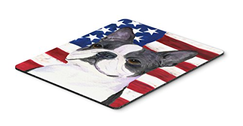 Caroline's Treasures Mouse/Hot Pad/Trivet, USA American Flag with Boston Terrier (SS4021MP)