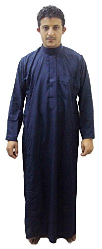Men-Saudi-Style-Thobe-Thoub-Abaya-Robe-Daffah-Dishdasha-Islamic-Arabian-Kaftan