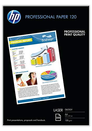 HP Professional Glossy Laser Paper 120 gsm-250 sheet/A4/210 x 297 mm