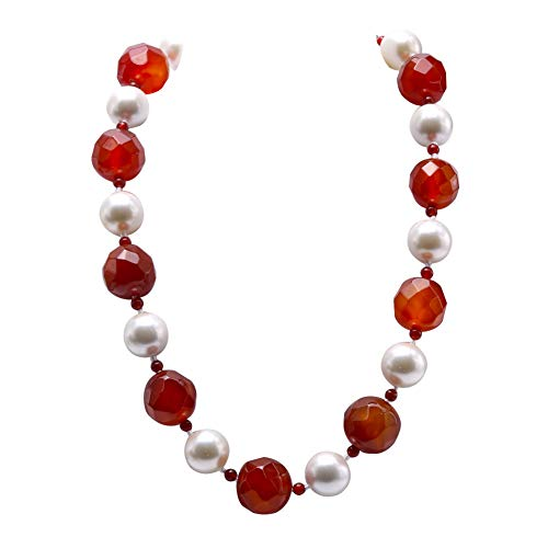 Red Agate Gemstone Necklace - 8