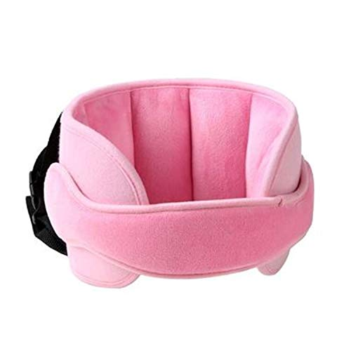 Lucky Youth Travel Pillow Neck Support Cushion Pad for Kids,Car Seat Safety Headrest Neck Adjuster Sleeping Pillow (Pink)
