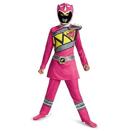 Disguise Pink Power Ranger Dino Charge Classic Costume, Small (4-6x) - Childs Pink Power Ranger Costumes