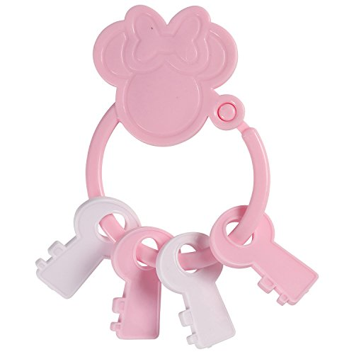 Shape Baby Teethers - Disney Minnie Mouse Key Shape Keyring Teether