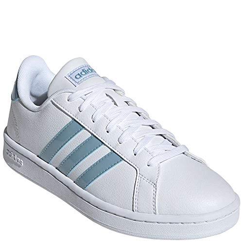 adidas Women's Grand Court Sneaker, White/ash Grey/Light Granite, 7 M US ()
