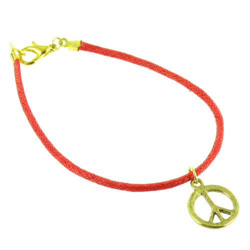 ilovefj Gold on Red Peace Sign (80s Jewelery)