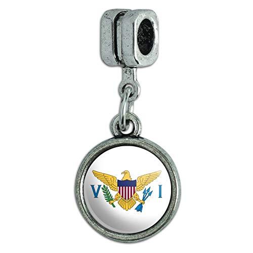 (GRAPHICS & MORE Virgin Islands US Territory Flag Italian European Style Bracelet Charm Bead)