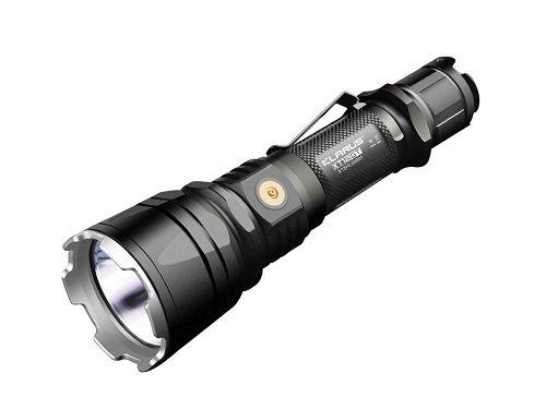 Klarus xt12-xml2-dgrey-a CREE LED Taktische wiederaufladbar Taschenlampe für Militär und Rescue Anwendungen, schwarz, Links/rechts Light Junction