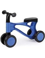 LENA 7168 07168 - Loopfiets My First Scooter, loopfiets in blauw en zwart, zitfiets met stalen assen, loopleerfiets voor evenwichtsgevoel en leren lopen, loophulpmiddel voor peuters vanaf 18 maanden