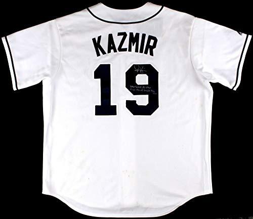 Scott Kazmir Autographed Signed Memorabilia Rays Jersey Inscribed 2006-2008 All Star Elite Coa - Certified Authentic