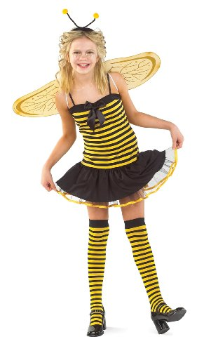 [Childs Short Bee Costume (Size:Large 10-12)] (Bee Wings Halloween Costume)