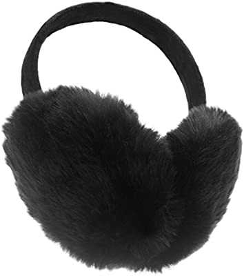 Folding Earmuffs Super Soft Earmuffs Winter Earmuffs Ear Warmers,Black