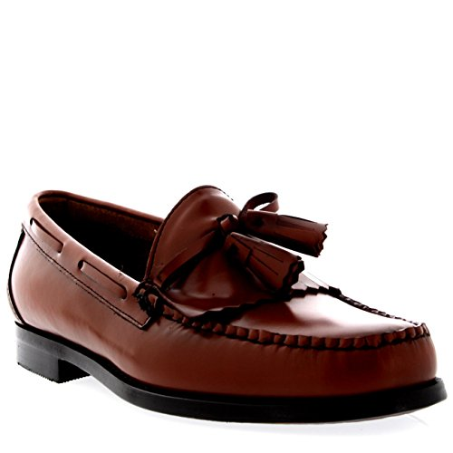 Mens G.H Bass Weejuns Layton Moc Kiltie Loafer Work Office Leather Shoes -...