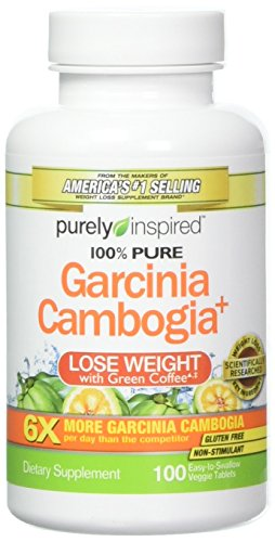 Purely Inspired 100% Pure Garcinia Cambogia Extract with HCA, 200 Count