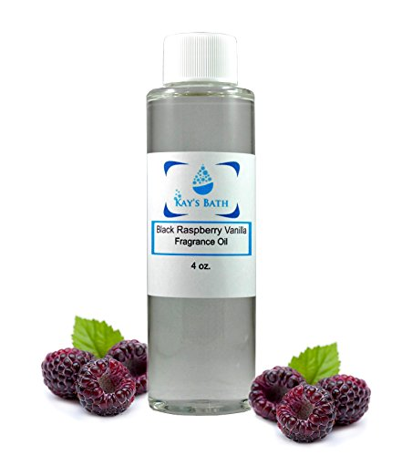 Raspberry Vanilla Perfume - Black Raspberry Vanilla Fragrance Oil - Essential for Candles, Bath Bombs, Perfume. Diffusers, Body Butter, Lotions and Soap Making - Works for All Bath and Body Products - 4 oz. (4 oz)