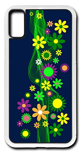 iPhone X Case Flower Power Decorations Vintage Shabby Chic 60s Customizable by TYD Designs in White Rubber