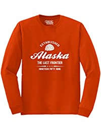 Alaska State Pride Souvenir Gift Destination Location Design Long Sleeve T