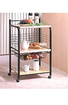 Review Black Microwave Cart with
