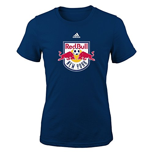 ork Red Bulls Girls -Primary Logo Short sleeve Tee, Navy, Large (14) ()