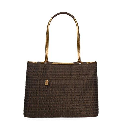 - Eric Javits Luxury Fashion Designer Women's Handbag - Aline - Brown