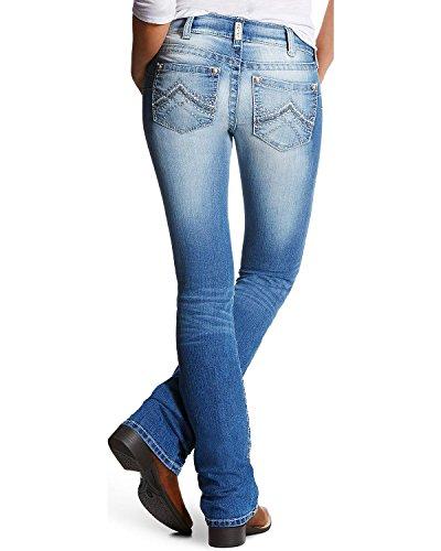 Ariat Women's R.E.A.L. Emma Low Rise Light Wash Jeans Boot Cut Blue 34 REG - Ariat Low Rise Jeans