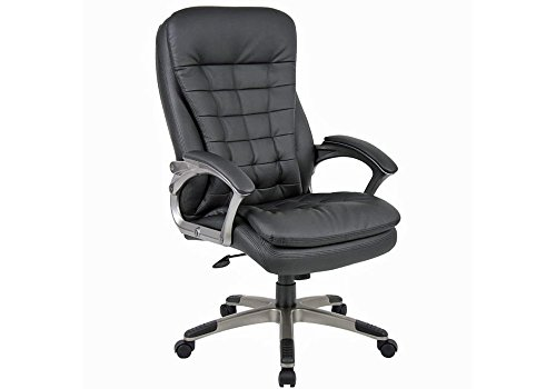 pillow-top-high-back-executive-chair-black-vinyl-pewter-finish-base-dimensions-27w-x-315d-x-435-465h