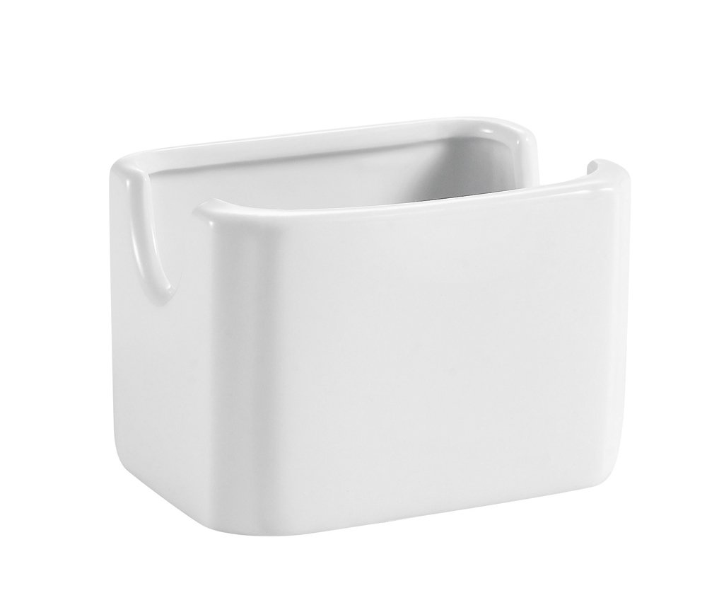 CAC China HSP-7-W Porcelain Rectangular Sugar Packet Holder, 3-1/8-Inch, Bone White, Box of 36