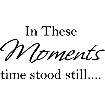 In These Moments Time Stood Still Quote Motto Wall Decal Art Sticker Picture