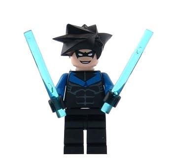 Amazoncom Nightwing  LEGO Batman Minifigure with Batons Toys