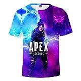 MIYECC Youth's Apex Legend 3D Printed T Shirts Girls Fashion Cool Top Tees