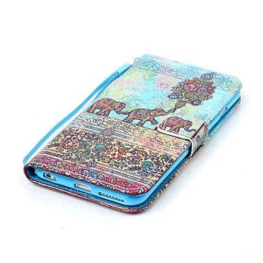 Fundas y estuches para teléfonos móviles, Patrón de elefante de la PU caja del teléfono de cuero para el iphone 6 más / 6s más ( Modelos Compatibles : IPhone SE/5s/5 ) IPhone 6s Plus/6 Plus