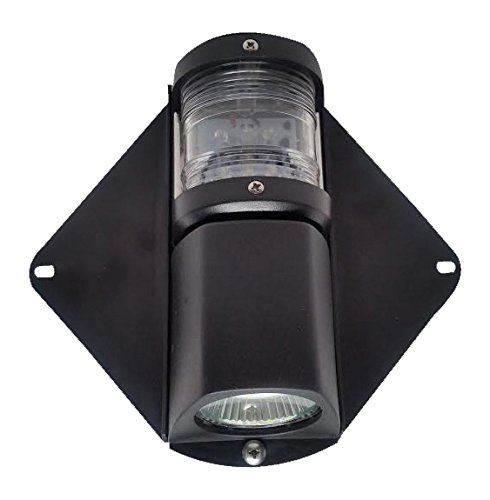 Pactrade Marine Waterproof LED Combo Masthead Deck Light for Boats Up to 12M P00100LD