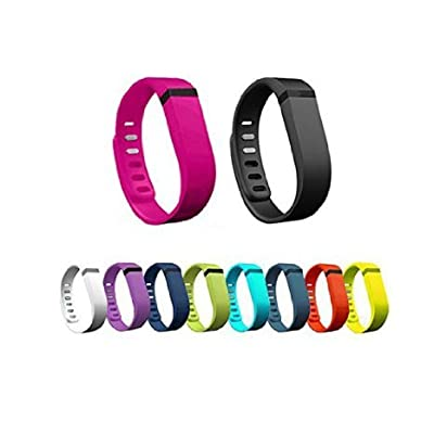 WOWOWO® 10pcs Large/Small Replacement Bands With Clasps for Fitbit FLEX Only /No tracker/ Wireless Activity Bracelet Sport Wristband Fit Bit Flex Bracelet Sport Arm Band Armband