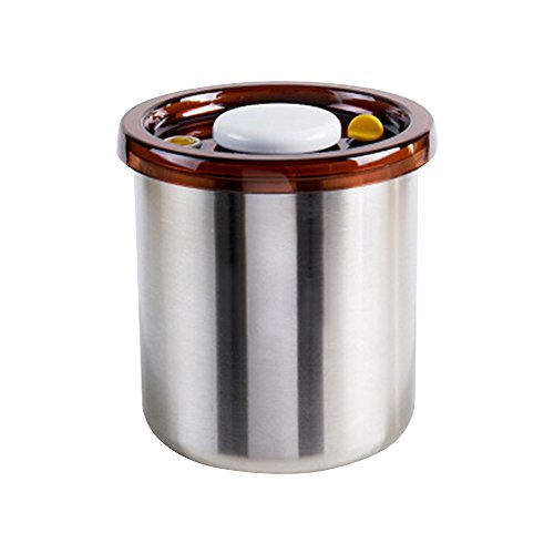 Coffee Canister Airtight Container Stainless Steel Storage Jars Leak Proof with Lids.1.4Qt/51oz.Vacuum seal containers can stay fresh for up to 3x longer than with ordinary containers by TwoTrees