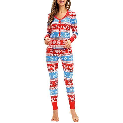 2PC Women Snowflake Elk Long Sleeves Christmas Pajamas