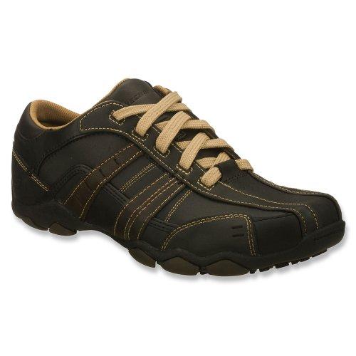 Skechers DiameterVassell Diameter Vassell - Zapatillas fashion de cuero para hombre, color negro, talla 41